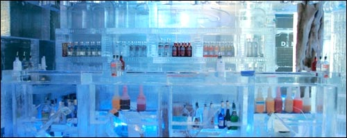 Travel to the Minus Five Degree Ice Lounge with our car hire Gold Coast service.
