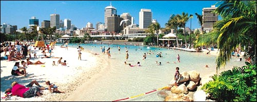 Travel to South Bank Brisbane with our rental cars Brisbane service.